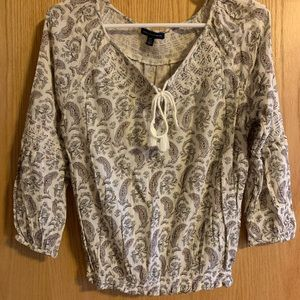 Cute patterned fall blouse